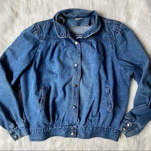 Vintage Look Blue Jean Denim Jacket